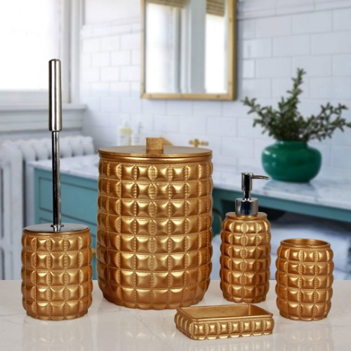 Picture of Marcus Bathroom Accessories Set of 5 - Gold