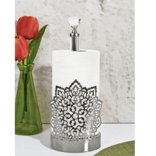 Picture of Akan Towel Holder - Silver