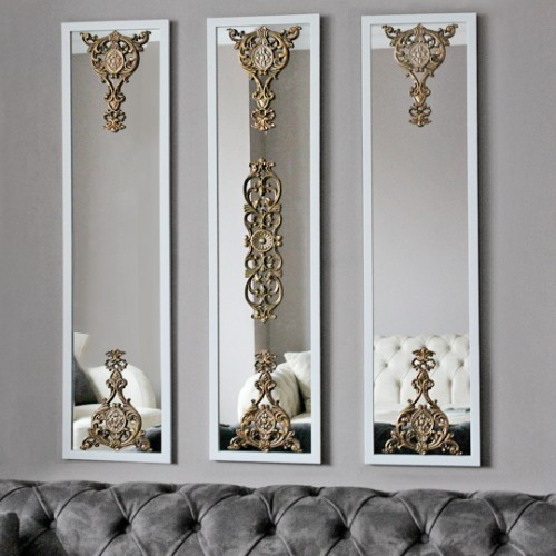 Picture of Lidyana Wall Mirror Set of 3 - White