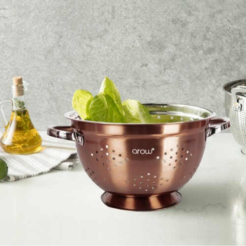 Picture of Barisa Stainless Steel Colander 25 cm - Bronze
