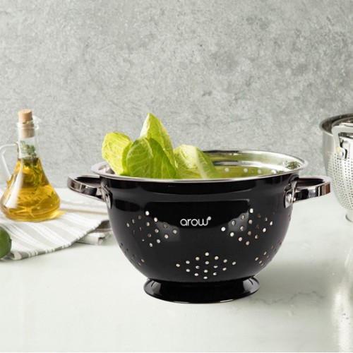 Picture of Barisa Stainless Steel Colander 25 cm - Black